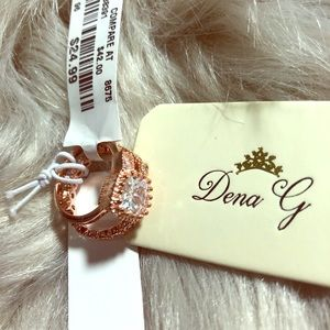 Rose Gold Ring Set Size 5